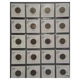 (20) V-Nickels. Dates: 1899, 1901, 4-1903, 1906,