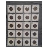 (20) V-Nickels. Dates: 4-1903, 4-1905, 4-1906,