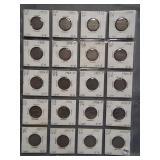 (20) V-Nickels. Dates: 4-1903, 4-1904, 4-1905,