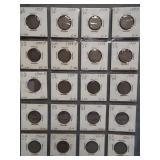 (20) V-Nickels. Dates: 4-1908, 4-1909, 4-1910,