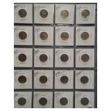 (20) Buffalo Nickels. Dates: 1913-S, 1914-S,
