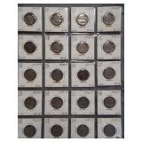 (20) Buffalo Nickels. Dates: 2-1915, 2-1916,