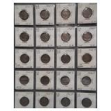 (20) Buffalo Nickels. Dates: 1921, 4-1923,