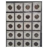 (20) Buffalo Nickels. Dates:4-1924, 3-1926,
