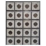 (20) Buffalo Nickels. Dates: 4-1926, 4-1927,