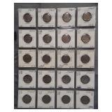 (20) Buffalo Nickels. Dates: 4-1926, 8-1927,