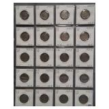 (20) Buffalo Nickels. Dates: 8-1929, 9-1929-S,