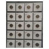 (20) Buffalo Nickels. Dates: 1934, 2-1935,
