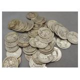 (50) Assorted Dates 1932-1939 90% Silver
