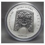 2018 Republic of Korea 1 Clay 999 Fine Silver.