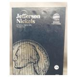 Partial Jefferson Nickels album from 1938 to