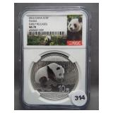 2016 China S10Y Panda Early Release. Graded NGC
