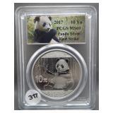 2017 First Strike China 10Yn Panda .999 Silver.