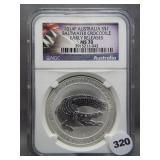 2014P 1oz .999 Silver Austraila Saltwater