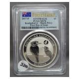 2017-P 1oz .999 Silver Australia Kookaburra -