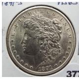 1891-S Morgan silver dollar. GEM BU.