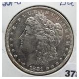 1881-O Morgan silver dollar. GEM BU.