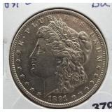 1891-O Morgan silver dollar. GEM BU.