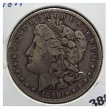 1899-O Morgan silver dollar.