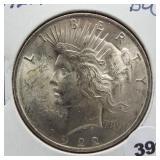 1922 Peace silver dollar. BU.