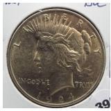 1924 Peace silver dollar. BU.
