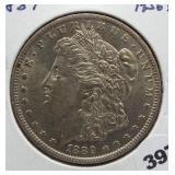 1889-O Morgan silver dollar. Superb GEM BU,