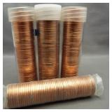 (4) BU Lincoln cent rolls: 1974-S, 1982-D, 1982