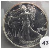 1989 American silver eagle.