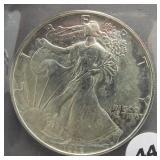 1992 American silver eagle.