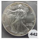 1999 American silver eagle.