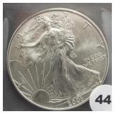 2001 American silver eagle.