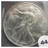 2002 American silver eagle.