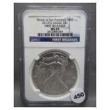 2012-S American silver Eagle. MGC MS69 Early