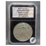 2007 West Point Burnished American Silver Eagle.