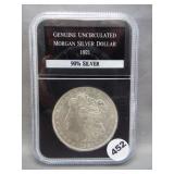 1921 Morgan silver dollar. PCS GEM BU.