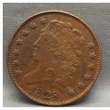 1828 UNC Half cent.