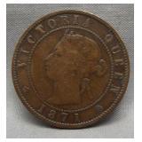 1871 Prince Edward Island one penny.