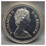 1972 Canadian 50% silver dollar.