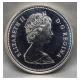 1974 Canadian 50% silver dollar.