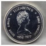 1977 Canadian 50% silver dollar.