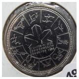 1978 Canadian 50% silver dollar.