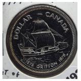 1979 Canadian 50% silver dollar.