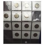 (13) 1922-1936 Canadian nickels. Missing