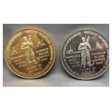 (2) 1867-1967 Ontario Confederation tokens.