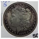 1888-S Morgan silver dollar.