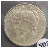 Prop Fantasy novelty coin for movies. 1928 Peace