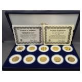 1999-2000 Statehood quarter 24KT gold plated set