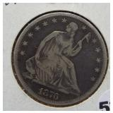 1876-S Seated silver half dollar.