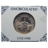 1982-D Silver UNC George Washington half dollar