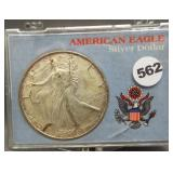2006 Silver Eagle in holder.
